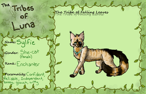 Sylfie of The Tribe of Falling Leaves :App Sheet: by Lyss504813