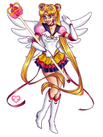 Eternal Sailor Moon by Annorelka