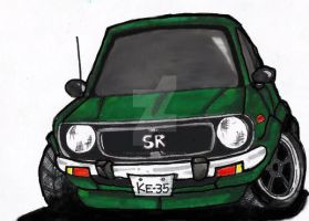 corolla KE35 SR - my car. by evil-hanzel