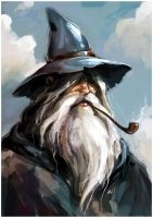 Gandalf by milkmindart