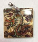 Chinese Dragon Mother of Pearl Pendant by The-GoblinQueen