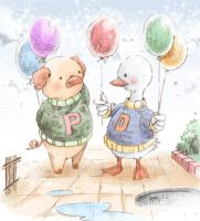 pig and duck by hangdok