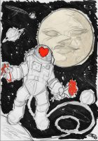 Astronaut in Love by DenisM79