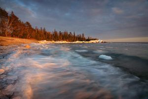Superior's Frozen Shore by tfavretto