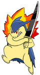 Bladed Typhlosion by Link8342