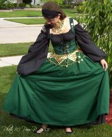 Green wench skirt...front by ladylucrezia
