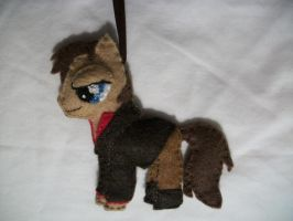 Pony Captain Mal from Firefly Ornament by grandmoonma