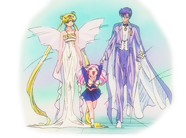 Chibiusa's mom and dad by tm6675