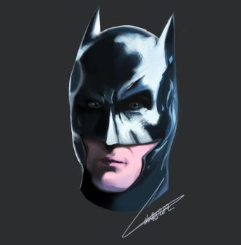 Batman Portrait by purrspif