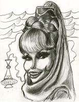 Barbara Eden in I Dream of Jeannie by Caricature80