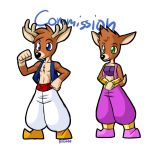 Doe and a Deer for tcgamerboy2002 by rongs1234