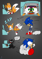 Dammit Sonic! - Tails by AZ-Derped-Unicorn