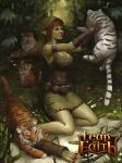 Elven Girl with Tigers by Beaver-Skin