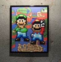 Perler Mario and Luigi (Super Mario World) by Dlugo1975