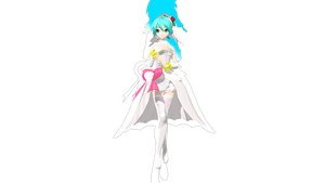 [50 Watchers Gift] DT Wedding Dress Miku +DL by ChocoFudge98