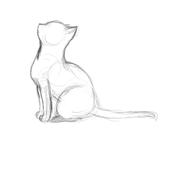 Cat WIP  simple sketch by Crummy-Juncture