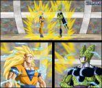 -DBM- Goku ssj3 VS Cell by DBZwarrior