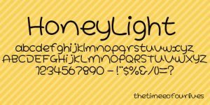 Honeylight font. by TheTimeeOfOurLives