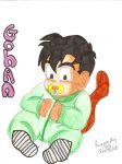 Baby Gohan character outline1 by Nessie-Noodlez