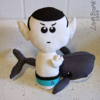 Spock in Speedo and Whale by lanabosak