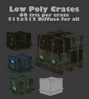 Low Poly Crates by BlooCoops
