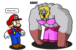 Peach got muscles by SuperKoopaTroopa