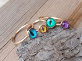 Evil Eye Stacking Rings by LilithLynx