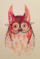 Watercolor Owl by Kauri