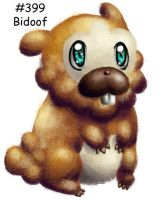 Bidoof is a groundhog by GrayWolfShadow