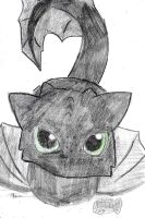 Baby Toothless by dianakudai27