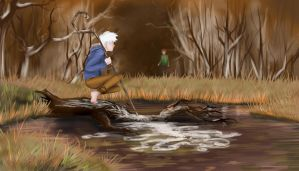 Waiting for someone to see me. by Kiki-Asuka