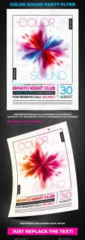 Color Sound Party Flyer by 4ustudio