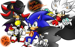 Halloween: 3 Hedgies by Shadow4one
