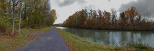 Gloomy October at the Erie Canal by drywall420