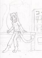 Mimi by a vending machine by frostdemn