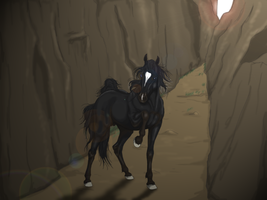 Horse in cave by SweGizmo