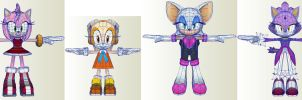 Sonic Dash IOS Android Girls Models by PapercraftKing
