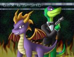 SFG - Spyro and Gex by Sting-Chameleon