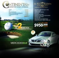 Continental Homes Ad by v5design