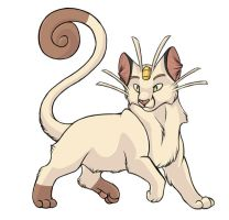 ...pogheys... Meowth by Rainbow-Cemetery