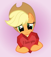 Applejack loves you by GAlekz