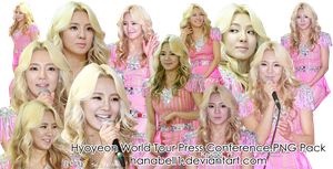 Hyoyeon World Tour Press Conference PNG Pack by HanaBell1