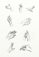 Hand anatomy and gesture study by Marcelo-C-C-Filho