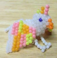 Beaded griffin by Anabiyeni