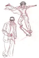 col erase hustle and skate by southpawdragon