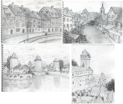 travel sketches - Alsace by Serio555