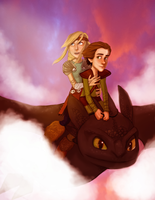 HTTYD - Romantic Flight by joshcmartin