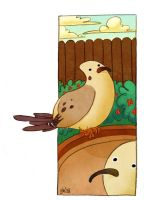 Stupid Mourning Doves by schematichands