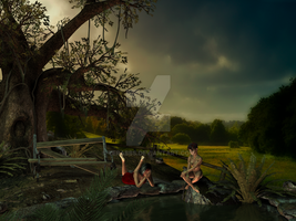 Lazing about at a forgotten pond by TERABBS
