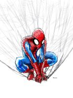 spider-man watercolor 2 by bua